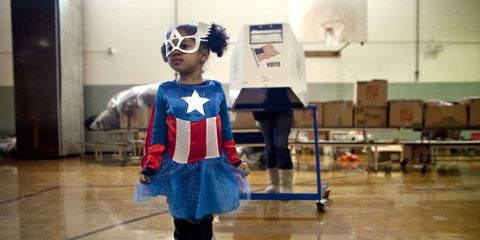 """<p>Three-year-old Raena Lamont hung out at a donation center-turned-polling station in Staten Island in November 2012, just two weeks after Hurricane Sandy wreaked havoc on the area.<span data-redactor-tag=""""span"""" data-verified=""""redactor""""></span></p>"""