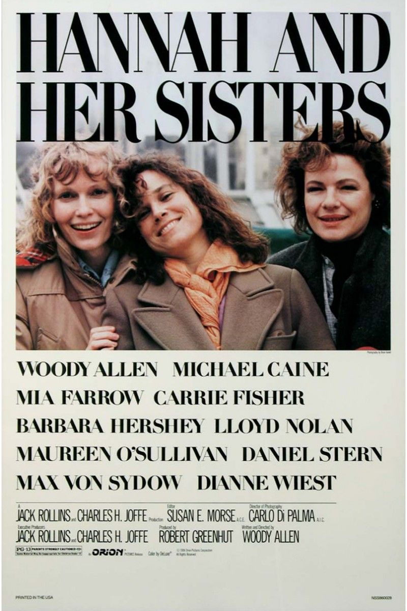 """<p>One of Woody Allen's first majorly successful films, <i data-redactor-tag=""""i"""">Hannah and Her Sisters</i> focuses on the complex relationship between Hannah (Mia Farrow), her sisters Lee (Barbara Hershey) and Holly (Dianne Wiest), and her husband Elliot (Michael Caine).</p>"""