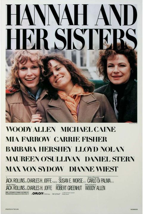 "<p>One of Woody Allen's first majorly successful films, <i data-redactor-tag=""i"">Hannah and Her Sisters</i> focuses on the complex relationship between Hannah (Mia Farrow), her sisters Lee (Barbara Hershey) and Holly (Dianne Wiest), and her husband Elliot (Michael Caine).</p>"