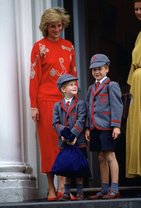 <p>On September 11, 1989, Prince Harry joined his older brother Prince William, and mother Princess Diana, for his first day at Wetherby School. </p>