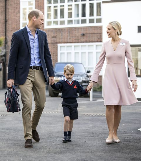 <p>On September 7, 2017, Prince William accompanied Prince George  for his first day at Thomas's school, where he was met by Helen Haslem, head of the lower school. </p>