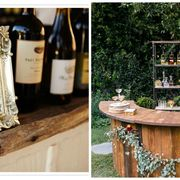 Photograph, Table, Glass bottle, Tree, Wood, Drink, Backyard, Liqueur, Furniture, Wood stain,