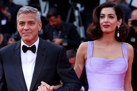 George Clooney and Amal Clooney attend the 74th annual Venice Film Festival.