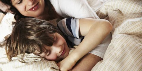 co-sleeping with 8-year-old index