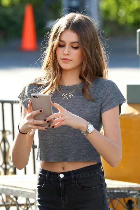 "<p><em data-redactor-tag=""em"">Kaia Gerber out and about in L.A. on Nov. 4, 2015.</em></p>"