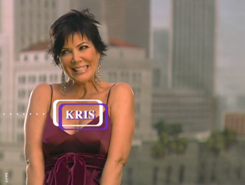 "<p>The first-ever episode of <em data-redactor-tag=""em"">KUWTK</em> opens with Kris and her family discussing Kim's booty, or as Kris puts it, ""She's like got the jiggles."" Kris also introduces herself as Kim's momager.</p>"
