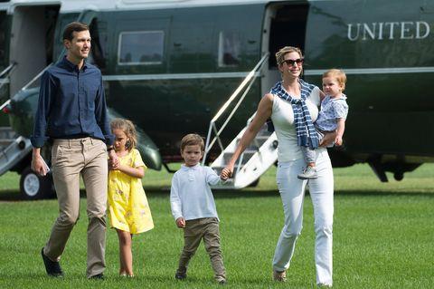 Ivanka Trump, Jared Kushner, and their children