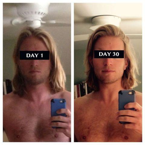 Hair, Face, Skin, Selfie, Head, Blond, Chin, Nose, Lip, Muscle,