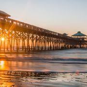 Pier, Shore, Reflection, Sea, Sky, Coast, Ocean, Beach, Morning, Water,