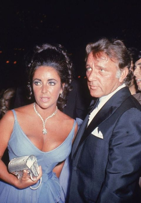 <p>Elizabeth Taylor with then-husband Richard Burton at the 42nd Annual Academy Awards.</p>