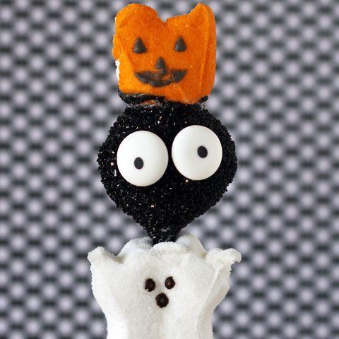 Black cat, Cat, Toy, Ghost, Figurine,