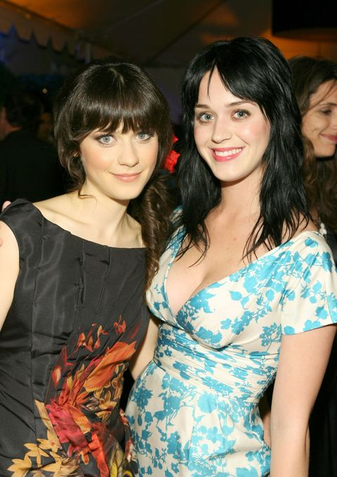 """<p>The wide-eyed stars are often confused for each other. In 2009, Deschanel admitted that the situation could be kind of annoying. </p><p>""""It's a little bit annoying, to be totally blunt. The only similarity that we have is that we look a little bit alike,"""" she told <a href=""""http://www.mtv.com/news/1608317/zooey-deschanel-wants-you-to-know-that-shes-not-katy-perry/"""" target=""""_blank"""">MTV</a>. """"I have met her before. She seems like a nice person. I'm happy that she's famous enough now that she's not going out and being mistaken for me.""""</p><p>By 2011, however, her attitude about their lookalike status seemed to have softened. She even jokingly suggested on <a href=""""https://www.instagram.com/p/axeCZ/"""" target=""""_blank"""">Instagram</a> that they go as the twins from <em data-redactor-tag=""""em"""">The Shining </em>for Halloween.</p>"""