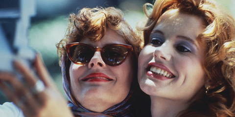 """<p>While <em data-redactor-tag=""""em"""">Thelma &amp; Louise </em>is a road trip movie set across multiple states, the film's most indelible image — spoiler alert for a movie that's more than 25 years old — is the girls rocketing over a cliff at the Grand Canyon. </p>"""
