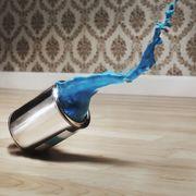 Paint tin on floor