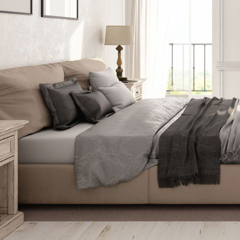 "<p>Fold a blanket in thirds and place it at the foot of the bed—this will create a graphic line that balances the pillows.</p><p><strong data-verified=""redactor"" data-redactor-tag=""strong"">RELATED: <a href=""http://www.redbookmag.com/home/decor/news/g3961/biggest-home-trends-2017-pinterest/"" target=""_blank"" data-tracking-id=""recirc-text-link"">10 Home Decor Trends That Will Be Big in 2017</a></strong><br></p><p><span class=""redactor-invisible-space"" data-verified=""redactor"" data-redactor-tag=""span"" data-redactor-class=""redactor-invisible-space""></span></p>"