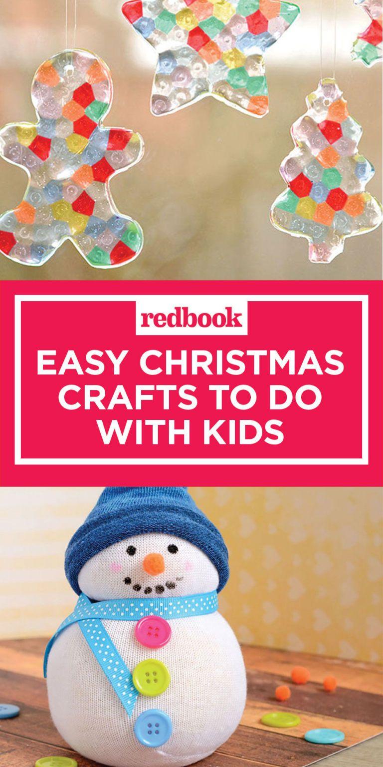 u003cpu003eNeed more Christmas craft ideas?u0026nbsp;Followu0026nbsp;u003ca href  sc 1 st  Redbook & 10 Easy Christmas Crafts for Kids - Holiday Arts and Crafts for Children