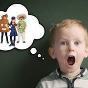 Child, Facial expression, Head, Cartoon, Toddler, Cheek, Illustration, Mouth, Baby, Fun,