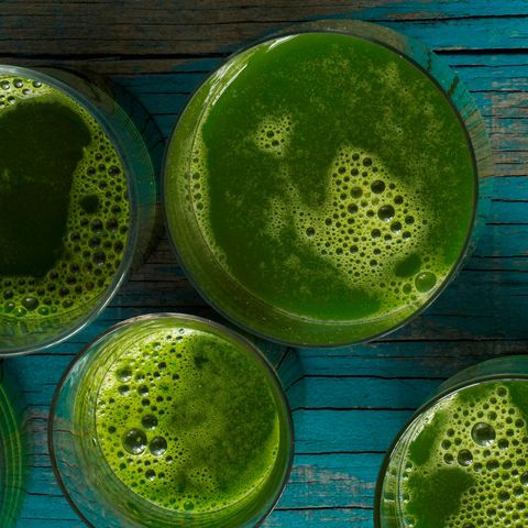 """<p><strong data-redactor-tag=""""strong"""">Ingredients<br></strong>2 leaves collard greens<br>2 ½ medium green apples<br>½ medium cucumber<br>2 stalks celery<br>½ medium lemon, peeled<br>½  medium lime, peeled </p><p><strong data-redactor-tag=""""strong"""">Directions: </strong>Juice all ingredients. Makes one drink. </p><p><i data-redactor-tag=""""i"""">Recipe courtesy of </i><a href=""""https://www.juicegeneration.com/"""" target=""""_blank""""><i data-tracking-id=""""recirc-text-link"""" data-redactor-tag=""""i"""">Juice Generation</i></a><i data-redactor-tag=""""i"""">.</i> </p><p><strong data-redactor-tag=""""strong"""">RELATED: <a href=""""http://www.redbookmag.com/body/healthy-eating/features/g2888/surprising-weight-loss-foods/"""" target=""""_blank"""" data-tracking-id=""""recirc-text-link"""">30 Not-So-Obvious Foods You Should Eat When Trying to Lose Weight</a> </strong><br></p>"""