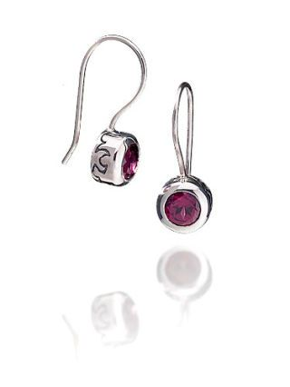 ignite change fire drop earrings in rhodolite