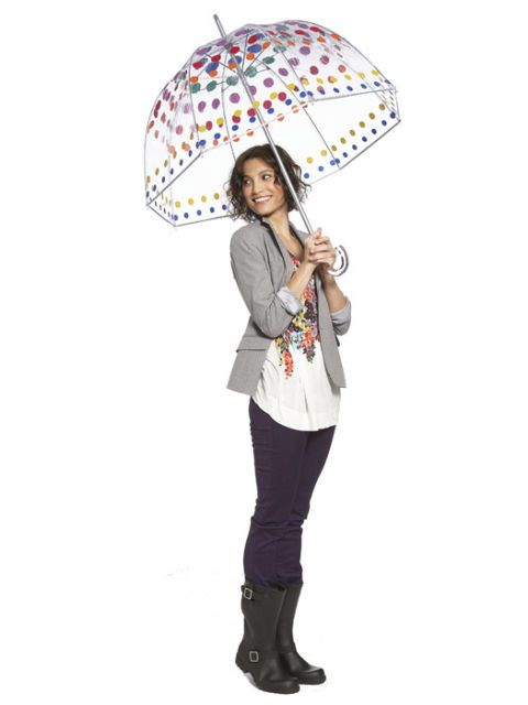 blazer and dots umbrella