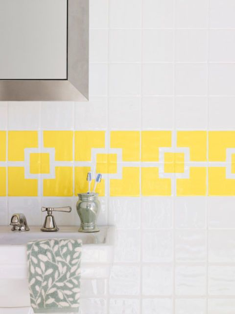 How To Paint Ceramic Tile DIY Painting Bathroom Tile Classy Can I Paint Bathroom Tile
