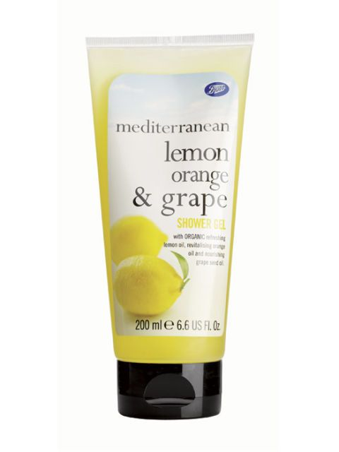 boots mediterranean lemon orange and grape shower gel