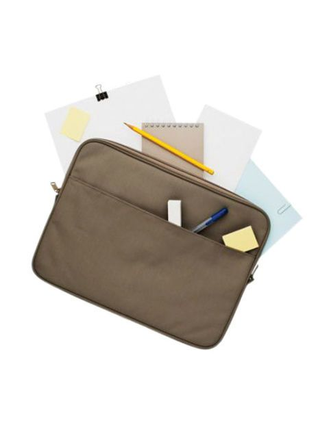briefcase and papers