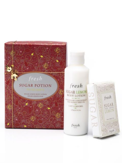 fresh lotion and lemon sugar soap
