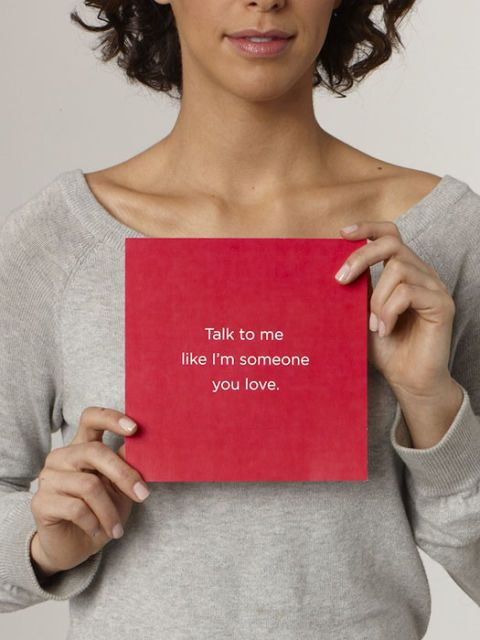 talk to me like you love me card