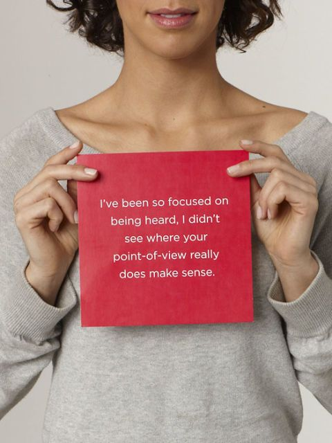 your point-of-view makes sense card