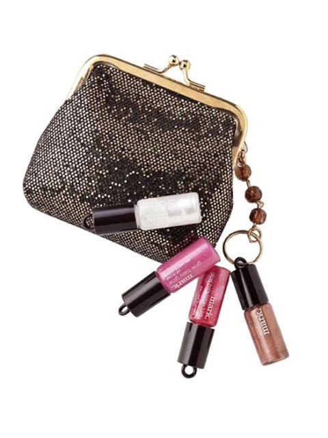 mark purse and lipgloss