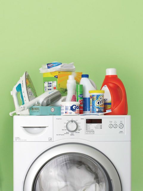 laundry products and washing machine