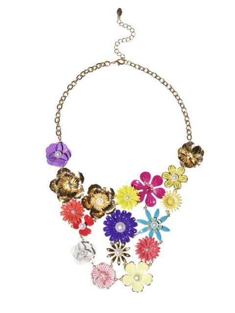 enamel flower necklace by fantasy jewelry box