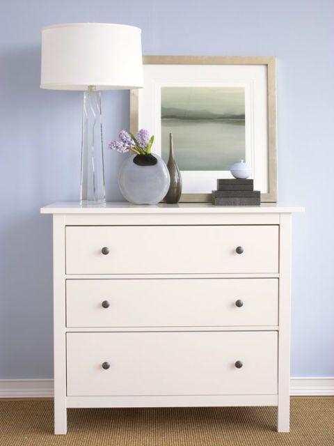 plain white dresser