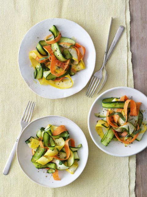 summer squash and carrot ribbons