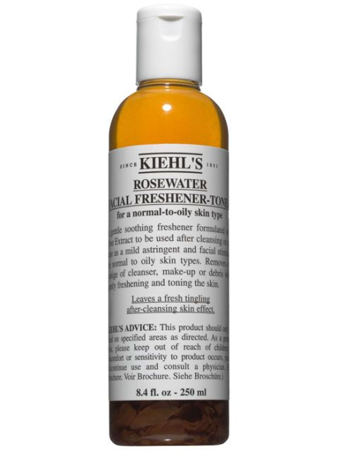 bottle of kiehls rosewater freshener toner