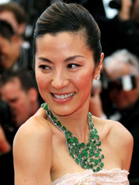 michelle yeoh in a statement necklace