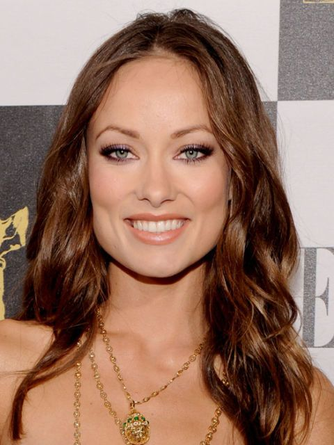 actress olivia wilde with winged eye makeup