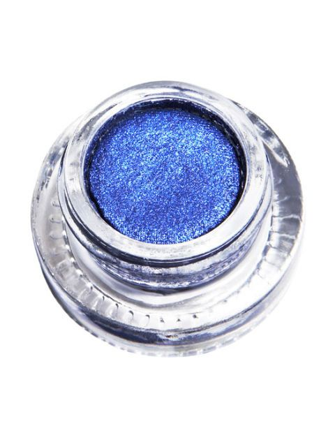 glittery blue eyeshadow