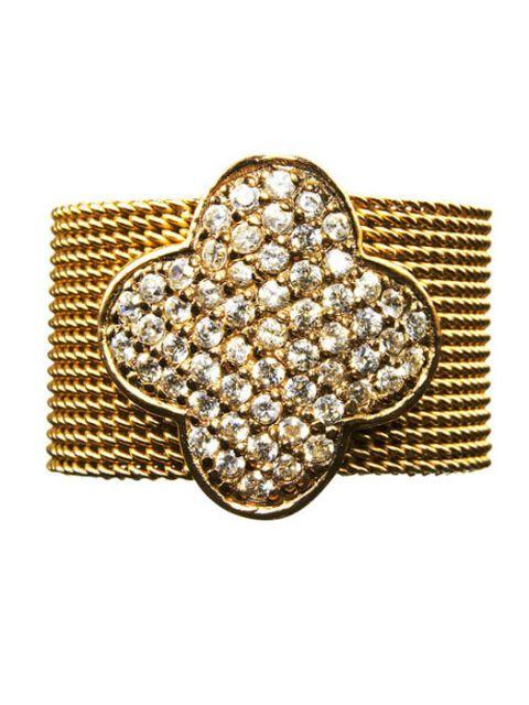 gold and rhinestone ring