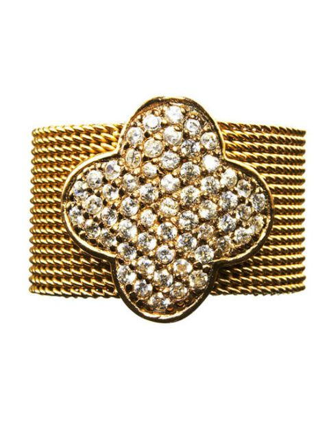 gold and rhinestone ring