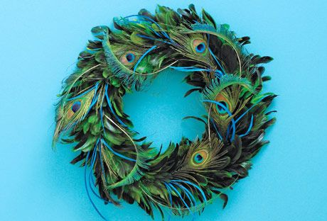 A feathered wreath