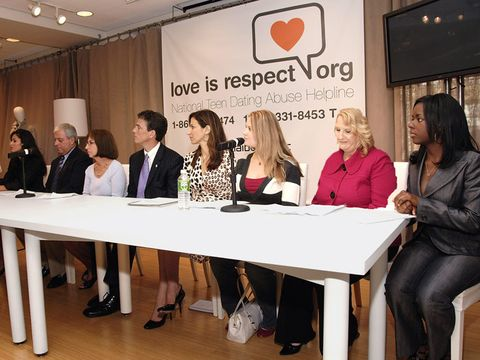 men and women at love is respect meeting