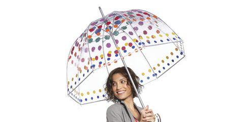 blazer and dots umbrella