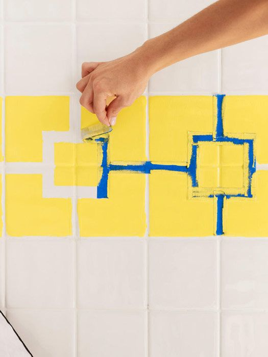 How To Paint Ceramic Tile   DIY Painting Bathroom Tile