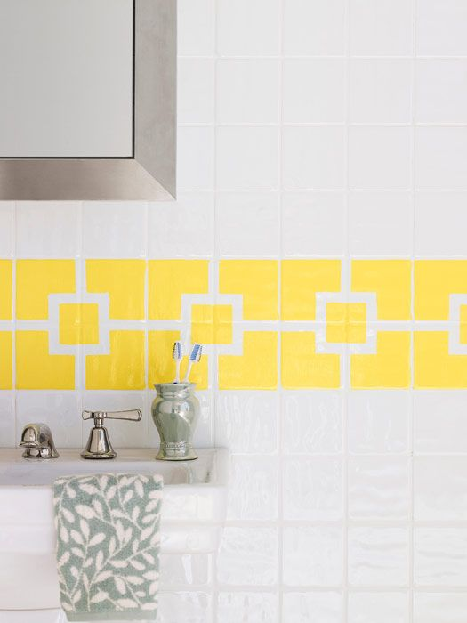 Beautiful How To Paint Ceramic Tile   DIY Painting Bathroom Tile