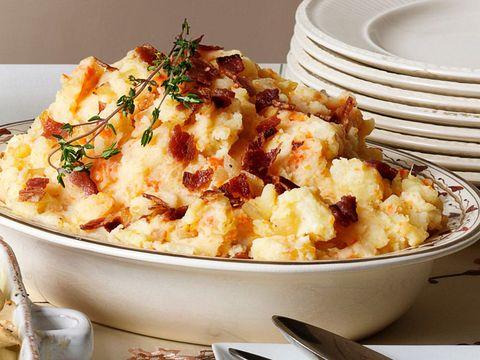 Golden mashed potatoes side dish