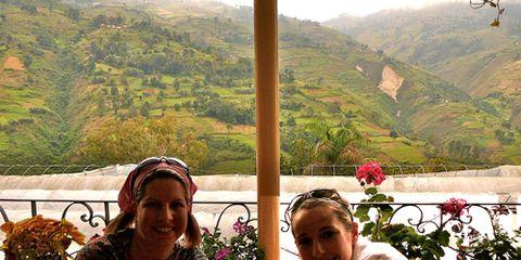 lori renz balestri and her neice in haiti