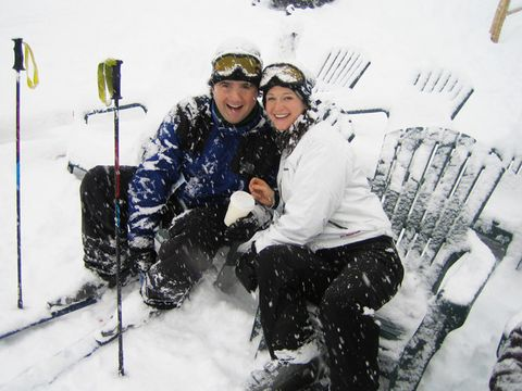 ashley parrish and husband igor in the snow