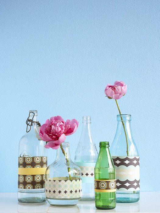 How To Make A Glass Bottle Vase Diy Recycled Glass Bottle Vase